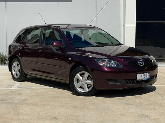 Used Mazda 3 BK10F2 Maxx Templestowe, 2008 Mazda 3 BK10F2 Maxx Purple 4 Speed Sports Automatic Hatchback