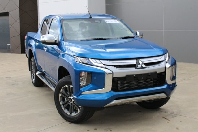 Demo Mitsubishi Triton MR MY21 GLS Double Cab Tuggerah, 2021 Mitsubishi Triton MR MY21 GLS Double Cab Impulse Blue 6 Speed Sports Automatic Utility
