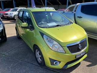 2011 Holden Barina Spark MJ MY11 CD Green 5 Speed Manual Hatchback.