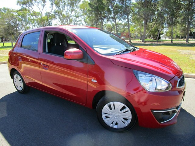 Used Mitsubishi Mirage LA LS Glenelg, 2016 Mitsubishi Mirage LA LS Red Continuous Variable Sedan