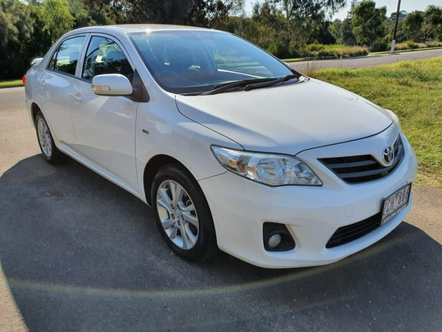 Used Toyota Corolla ZRE152R Ascent Sport Geelong, 2012 Toyota Corolla ZRE152R Ascent Sport White Automatic Sedan