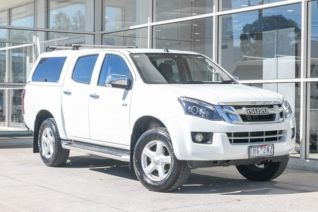Used Isuzu D-MAX MY15 LS-U Crew Cab 4x2 High Ride Ferntree Gully, 2016 Isuzu D-MAX MY15 LS-U Crew Cab 4x2 High Ride White 5 Speed Sports Automatic Utility