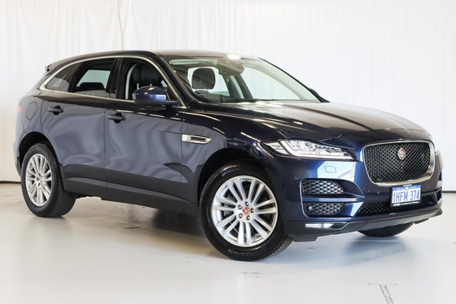 Used Jaguar F-PACE X761 MY18 Portfolio Wangara, 2017 Jaguar F-PACE X761 MY18 Portfolio Blue 8 Speed Sports Automatic Wagon