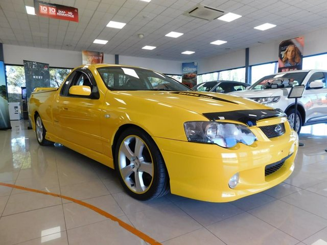 Used Ford Falcon BA Mk II XR8 Magnet Ute Super Cab Wonthaggi, 2005 Ford Falcon BA Mk II XR8 Magnet Ute Super Cab Yellow 4 Speed Sports Automatic Utility
