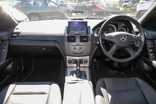 2009 Mercedes-Benz C-Class W204 C220 CDI Avantgarde Palladium Silver 5 Speed Automatic Sedan.