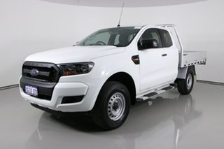 2017 Ford Ranger PX MkII MY17 XL 2.2 Hi-Rider (4x2) White 6 Speed Automatic Super Cab Chassis.