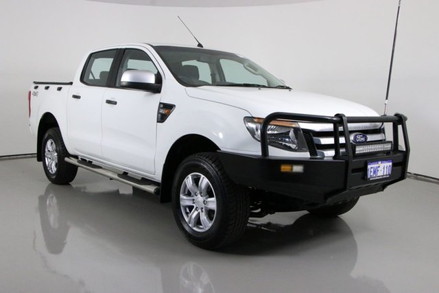 Used Ford Ranger PX XLS 3.2 (4x4) Bentley, 2014 Ford Ranger PX XLS 3.2 (4x4) White 6 Speed Manual Double Cab Pick Up