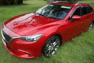 2014 Mazda 6 GJ1031 MY14 Atenza SKYACTIV-Drive Red 6 Speed Sports Automatic Wagon.