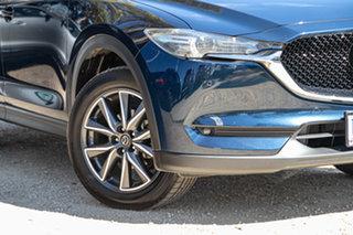 2017 Mazda CX-5 KF4WLA GT SKYACTIV-Drive i-ACTIV AWD Deep Crystal Blue 6 Speed Sports Automatic.