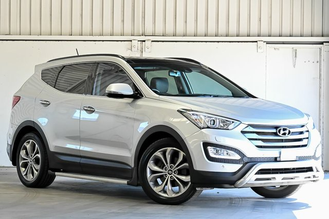 Used Hyundai Santa Fe DM MY14 Highlander Laverton North, 2014 Hyundai Santa Fe DM MY14 Highlander Silver 6 Speed Sports Automatic Wagon