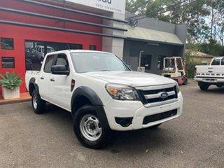 2009 Ford Ranger PJ XL Crew Cab 4x2 Hi-Rider White 5 Speed Automatic Utility.