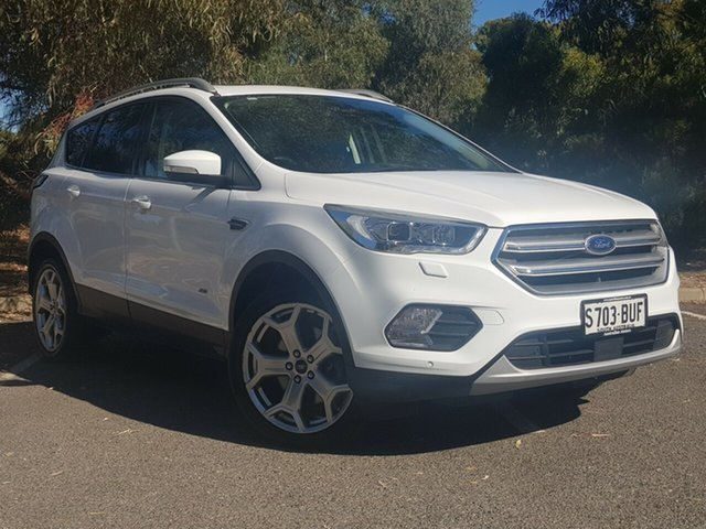 Used Ford Escape ZG Titanium Morphett Vale, 2017 Ford Escape ZG Titanium White 6 Speed Sports Automatic Dual Clutch SUV