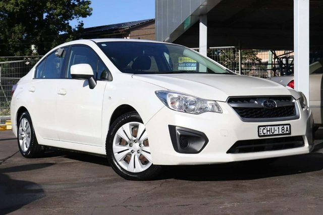 Used Subaru Impreza G4 MY12 2.0i AWD Waitara, 2012 Subaru Impreza G4 MY12 2.0i AWD White 6 Speed Manual Sedan