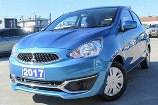 2017 Mitsubishi Mirage LA MY17 ES Blue 1 Speed Constant Variable Hatchback.