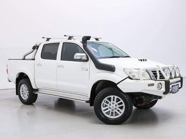 Used Toyota Hilux KUN26R MY12 SR5 (4x4), 2012 Toyota Hilux KUN26R MY12 SR5 (4x4) White 5 Speed Manual Dual Cab Pick-up