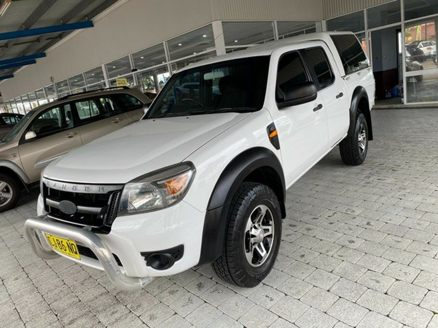 Used Ford Ranger Taree, 2010 Ford Ranger XL - Hi-Rider White Automatic Cab Chassis - Dual Cab