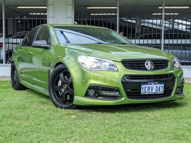 Used Holden Commodore VF MY15 SS V Redline Victoria Park, 2015 Holden Commodore VF MY15 SS V Redline Green 6 Speed Sports Automatic Sedan