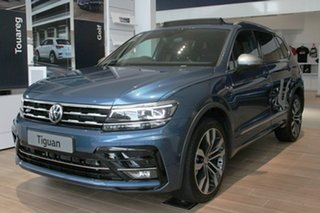2020 Volkswagen Tiguan 5N MY21 162TSI Highline DSG 4MOTION Allspace Blue 7 Speed