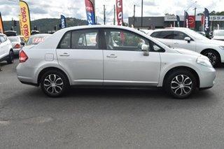 2010 Nissan Tiida C11 MY07 ST Silver 4 Speed Automatic Hatchback.
