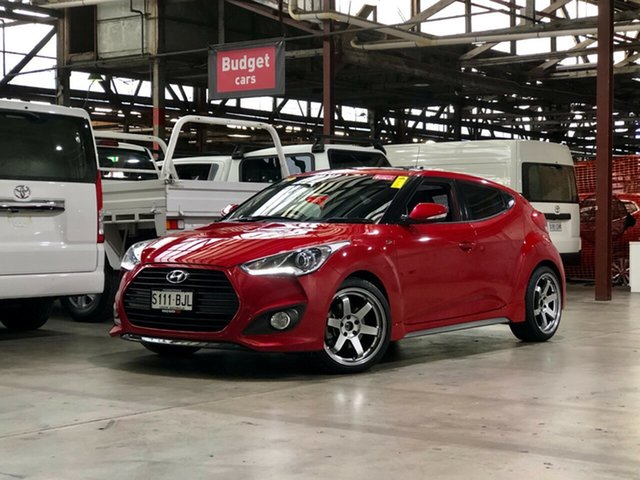Used Hyundai Veloster FS2 SR Coupe Turbo Mile End South, 2013 Hyundai Veloster FS2 SR Coupe Turbo Red 6 Speed Sports Automatic Hatchback