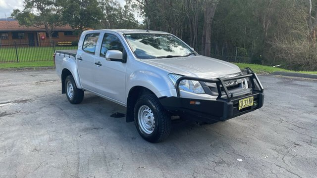 Used Isuzu D-MAX MY15 SX Crew Cab 4x2 High Ride Port Macquarie, 2015 Isuzu D-MAX MY15 SX Crew Cab 4x2 High Ride Silver 5 Speed Sports Automatic Utility
