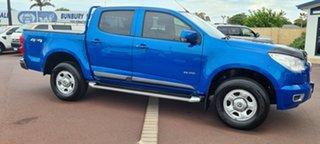 2014 Holden Colorado RG MY14 LX Crew Cab Blue 6 Speed Sports Automatic Utility