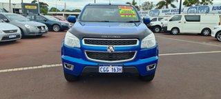 2014 Holden Colorado RG MY14 LX Crew Cab Blue 6 Speed Sports Automatic Utility.