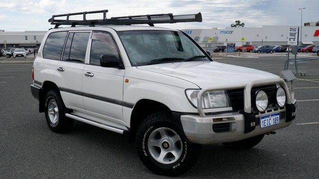Used Toyota Landcruiser HZJ105R Standard Maddington, 2003 Toyota Landcruiser HZJ105R Standard White 5 Speed Manual Wagon