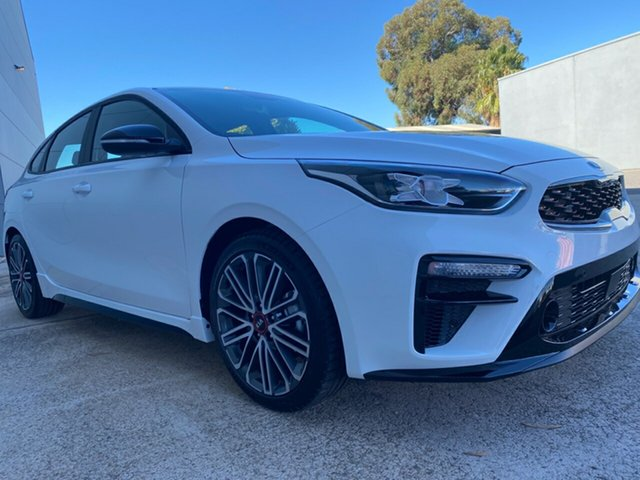 New Kia Cerato BD MY21 GT DCT Cheltenham, 2020 Kia Cerato BD MY21 GT DCT Clear White 7 Speed Sports Automatic Dual Clutch Hatchback