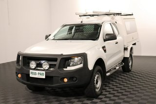 2012 Ford Ranger PX XL Hi-Rider White 6 speed Automatic Cab Chassis.