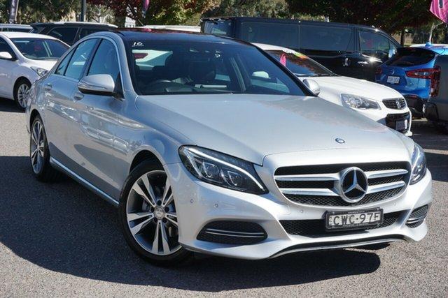 Used Mercedes-Benz C-Class W205 C200 7G-Tronic + Phillip, 2014 Mercedes-Benz C-Class W205 C200 7G-Tronic + Silver 7 Speed Sports Automatic Sedan