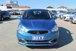 2017 Mitsubishi Mirage LA MY17 ES Blue 1 Speed Constant Variable Hatchback