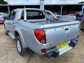 2011 Mitsubishi Triton MN MY11 GL-R Double Cab 4x2 Silver 4 Speed Automatic Utility.