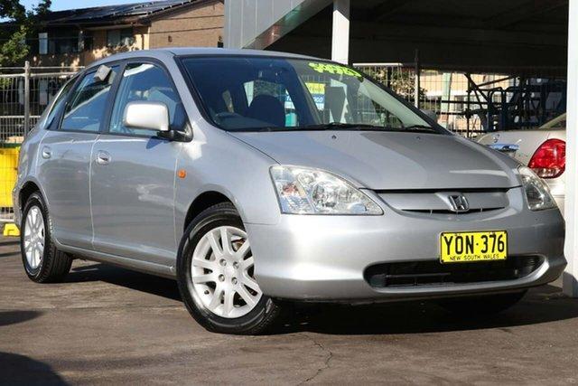 Used Honda Civic 7th Gen MY2003 VI Waitara, 2003 Honda Civic 7th Gen MY2003 VI Silver 5 Speed Manual Hatchback