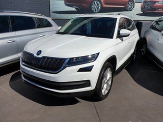 2019 Skoda Kodiaq NS MY20 132TSI DSG White 7 Speed Sports Automatic Dual Clutch Wagon.