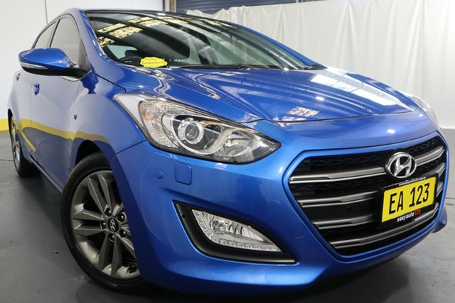 Used Hyundai i30 GD3 Series II MY17 SR Premium Castle Hill, 2016 Hyundai i30 GD3 Series II MY17 SR Premium Blue 6 Speed Sports Automatic Hatchback