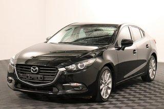2017 Mazda 3 BN5238 SP25 SKYACTIV-Drive Black 6 speed Automatic Sedan.