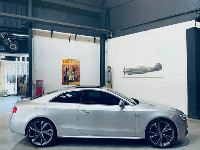 Used Audi A5 8T MY14 S Tronic Quattro Port Melbourne, 2014 Audi A5 8T MY14 S Tronic Quattro Silver 7 Speed Sports Automatic Dual Clutch Coupe