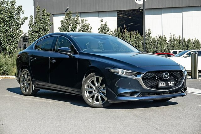 Used Mazda 3 BP2SLA G25 SKYACTIV-Drive Astina Essendon Fields, 2019 Mazda 3 BP2SLA G25 SKYACTIV-Drive Astina Blue 6 Speed Sports Automatic Sedan
