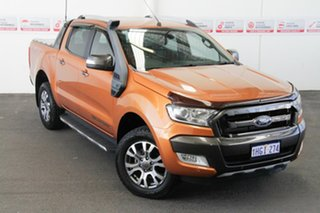 2015 Ford Ranger PX MkII Wildtrak 3.2 (4x4) Orange 6 Speed Manual Dual Cab Pick-up.