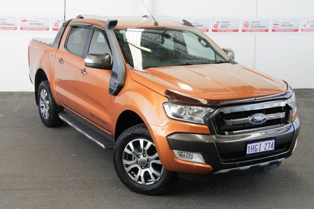 Pre-Owned Ford Ranger PX MkII Wildtrak 3.2 (4x4) Myaree, 2015 Ford Ranger PX MkII Wildtrak 3.2 (4x4) Orange 6 Speed Manual Dual Cab Pick-up