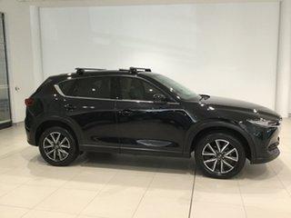 2017 Mazda CX-5 KF4WLA GT SKYACTIV-Drive i-ACTIV AWD Jet Black 6 Speed Sports Automatic Wagon.