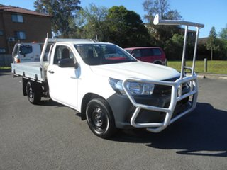 2015 Toyota Hilux TGN121R Workmate White 6 Speed Automatic Cab Chassis.