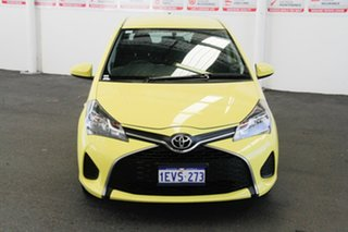 2015 Toyota Yaris NCP130R MY15 Ascent Vivid Yellow 4 Speed Automatic Hatchback.