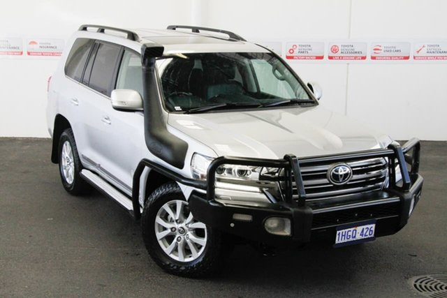 Pre-Owned Toyota Landcruiser VDJ200R MY16 Sahara (4x4) Myaree, 2017 Toyota Landcruiser VDJ200R MY16 Sahara (4x4) Silver Pearl 6 Speed Automatic Wagon
