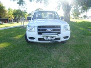 2006 Ford Ranger PJ XL White Manual Cab Chassis.