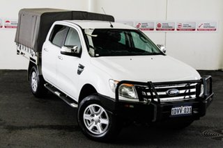 2012 Ford Ranger PX XLT 3.2 (4x4) White 6 Speed Automatic Double Cab Pick Up.