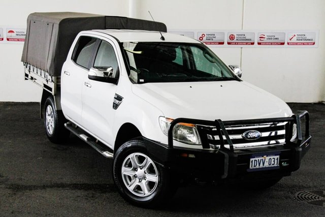 Pre-Owned Ford Ranger PX XLT 3.2 (4x4) Myaree, 2012 Ford Ranger PX XLT 3.2 (4x4) White 6 Speed Automatic Double Cab Pick Up