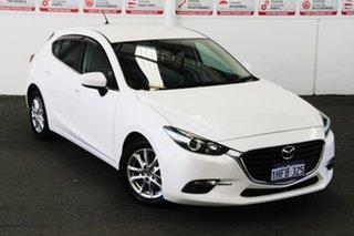 2015 Mazda 3 BM Maxx White 6 Speed Automatic Hatchback.