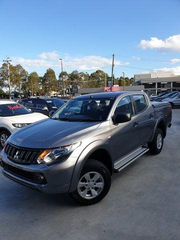 Used Mitsubishi Triton MQ MY18 GLX+ Double Cab Liverpool, 2018 Mitsubishi Triton MQ MY18 GLX+ Double Cab Grey 5 Speed Sports Automatic Utility